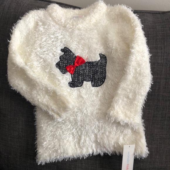 441afa75224d NWT Fuzzy Scottie Graphic Sweater